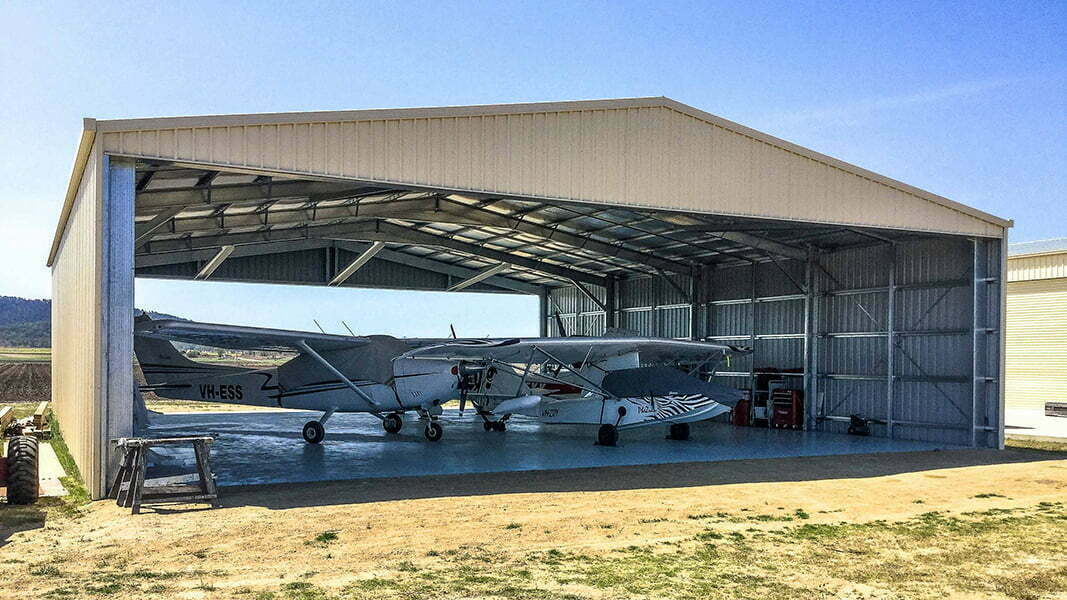 Steel Hangar with Aeroplanes